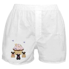 Pug Dog Cupcakes Boxer Shorts