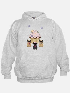 Pug Dog Cupcakes Hoodie