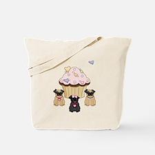Pug Dog Cupcakes Tote Bag