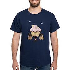 Pug Dog Cupcakes T-Shirt