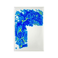 Alice & Cheshire #1 Rectangle Magnet (100 pack)