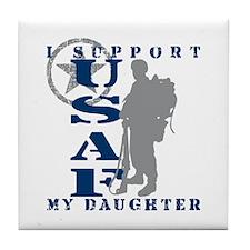 I Support Daughter 2 - USAF Tile Coaster
