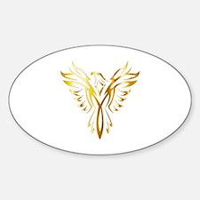 Unique Phoenix bird rising art Sticker (Oval)