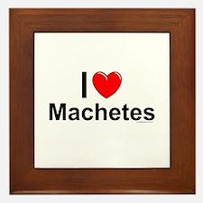 Machetes Framed Tile