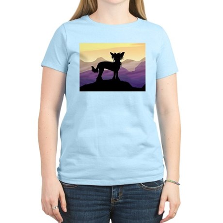 Chinese Crested Purple Mt. Women's Light T-Shirt