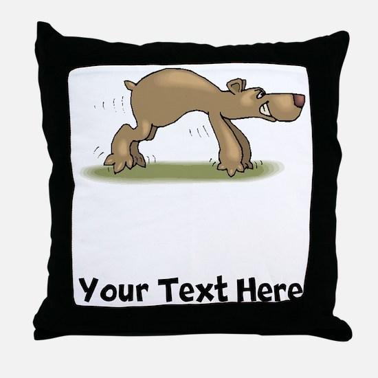 Bear Tiptoeing (Custom) Throw Pillow