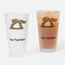 Bear Tiptoeing (Custom) Drinking Glass
