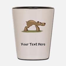 Bear Tiptoeing (Custom) Shot Glass