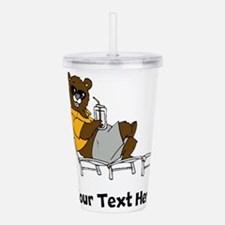 Bear Lounging (Custom) Acrylic Double-wall Tumbler