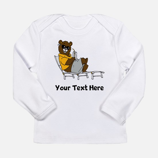 Bear Lounging (Custom) Long Sleeve T-Shirt