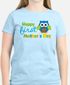 Owl Boy 1st Mothers Day T-Shirt