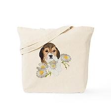 Beagle Pup & Daisies Tote Bag