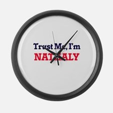 Trust Me, I'm Nathaly Large Wall Clock