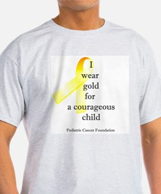 I wear gold for a courageous child T-Shirt
