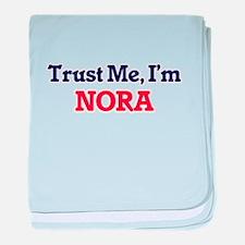 Trust Me, I'm Nora baby blanket