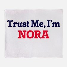 Trust Me, I'm Nora Throw Blanket