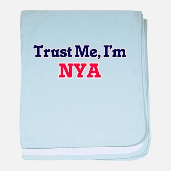 Trust Me, I'm Nya baby blanket
