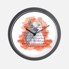 Chief - Red Wall Clock