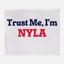 Trust Me, I'm Nyla Throw Blanket