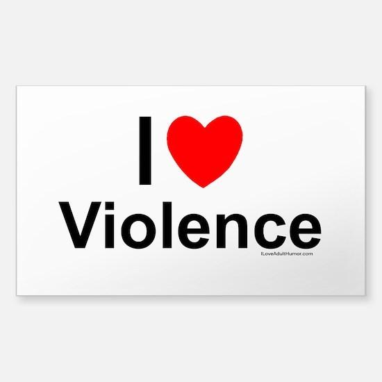 Violence Sticker (Rectangle)