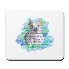 Chief - blue Mousepad