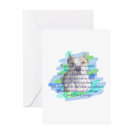 Chief - blue Greeting Card