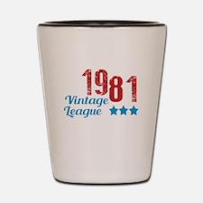 1981 Vintage League Shot Glass