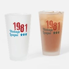 1981 Vintage League Drinking Glass