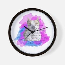 Chief - purple Wall Clock