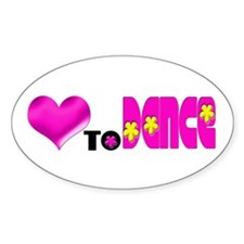 Love to Dance Oval Decal