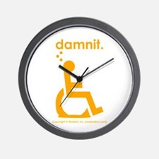 damnit.wheelchair Wall Clock
