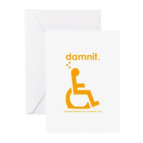 damnit.wheelchair Greeting Cards (Pk of 10)