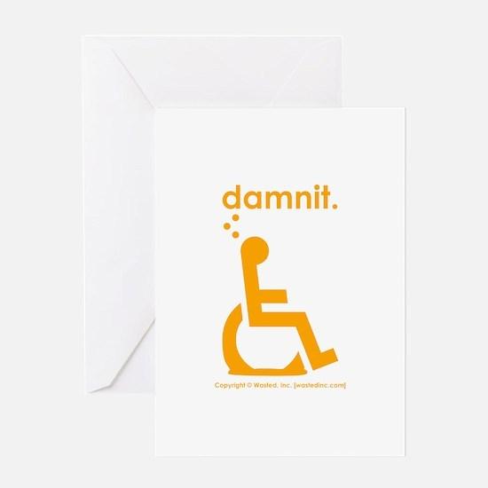 damnit.wheelchair Greeting Card