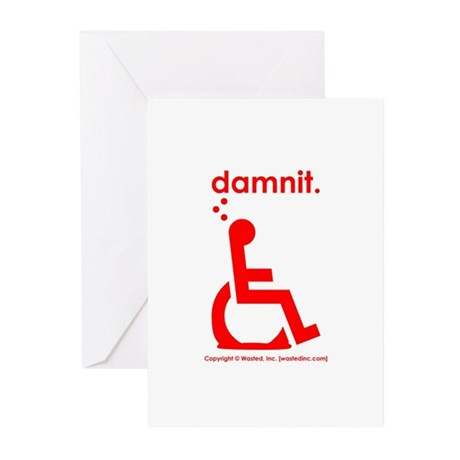 damnit.wheelchair Greeting Cards (Pk of 20)