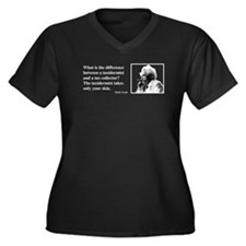 Twain on Taxes Women's Plus Size V-Neck Dark T-Shi
