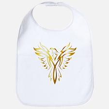 Phoenix Bird Gold Bib