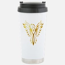 Phoenix Bird Gold Travel Mug