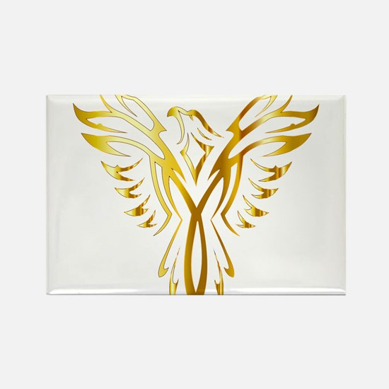 Phoenix Bird Gold Magnets