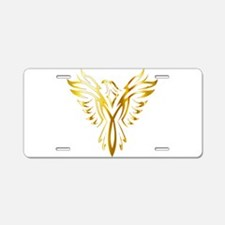 Phoenix Bird Gold Aluminum License Plate