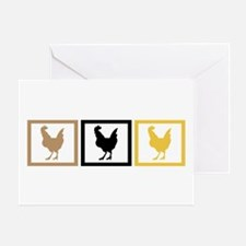 Chicken Squares Greeting Card