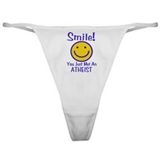 Atheist Smiley Classic Thong