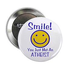 "Atheist Smiley 2.25"" Button (100 pack)"