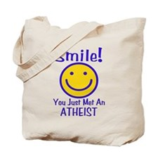Atheist Smiley Tote Bag