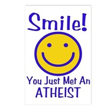 Atheist Smiley Postcards (Package of 8)