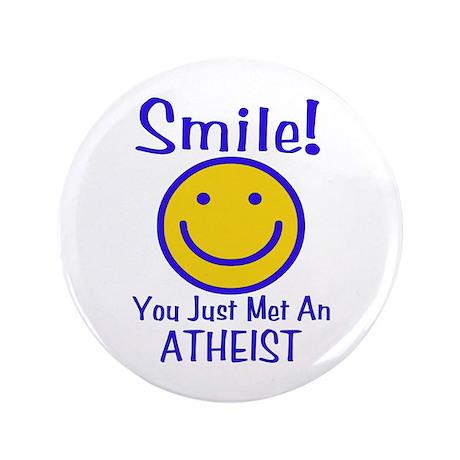 "Atheist Smiley 3.5"" Button (100 pack)"