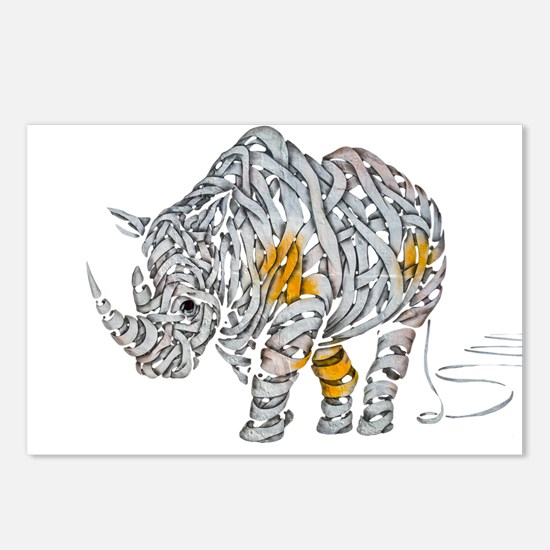Paper Rhino Postcards (Package of 8)