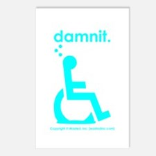 damnit.wheelchair Postcards (Package of 8)