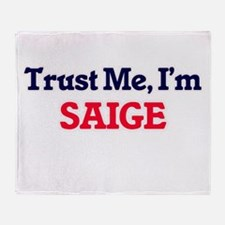 Trust Me, I'm Saige Throw Blanket