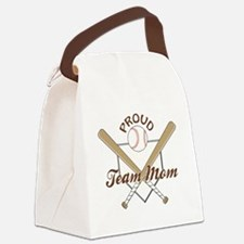 PROUD TEAM MOM Canvas Lunch Bag