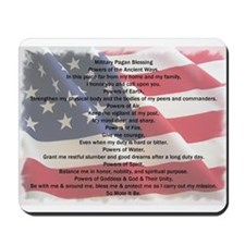 Pagan Military Blessing Mousepad
